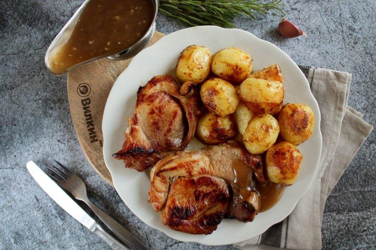 Свинина с медом и соевым соусом