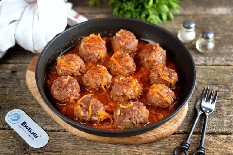 мясные тефтели в соусе