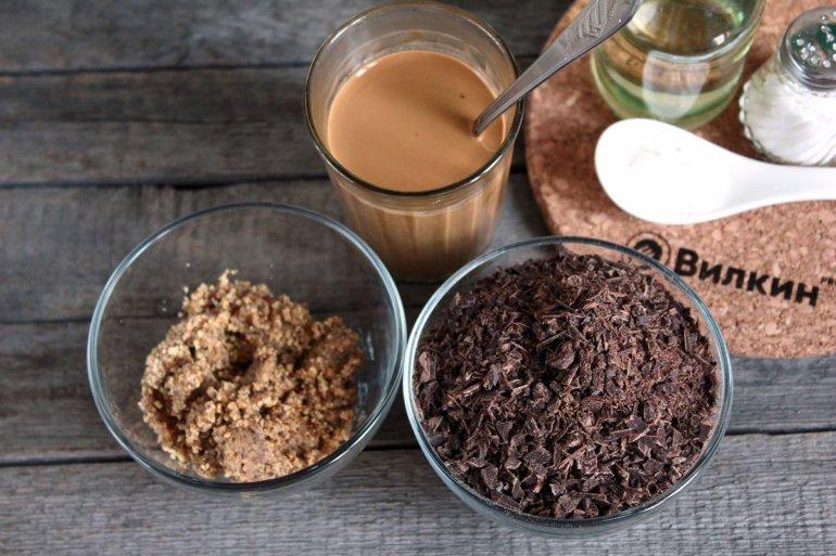 кофе, орехи, шоколад