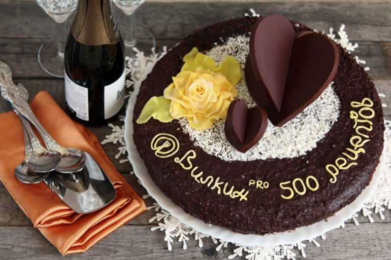 шоколадный торт из бисквитных коржей
