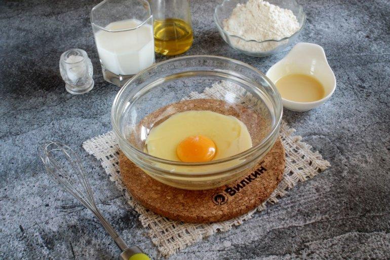 яйцо со сгущенкой