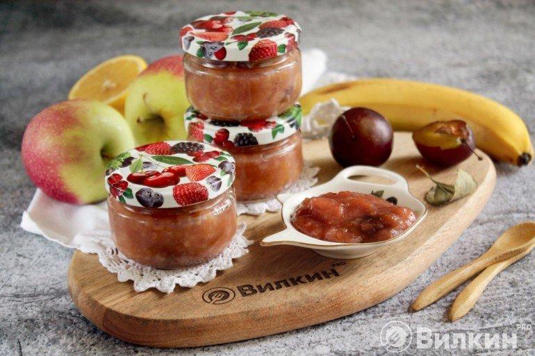 Варенье из слив, яблок и бананов в хлебопечке