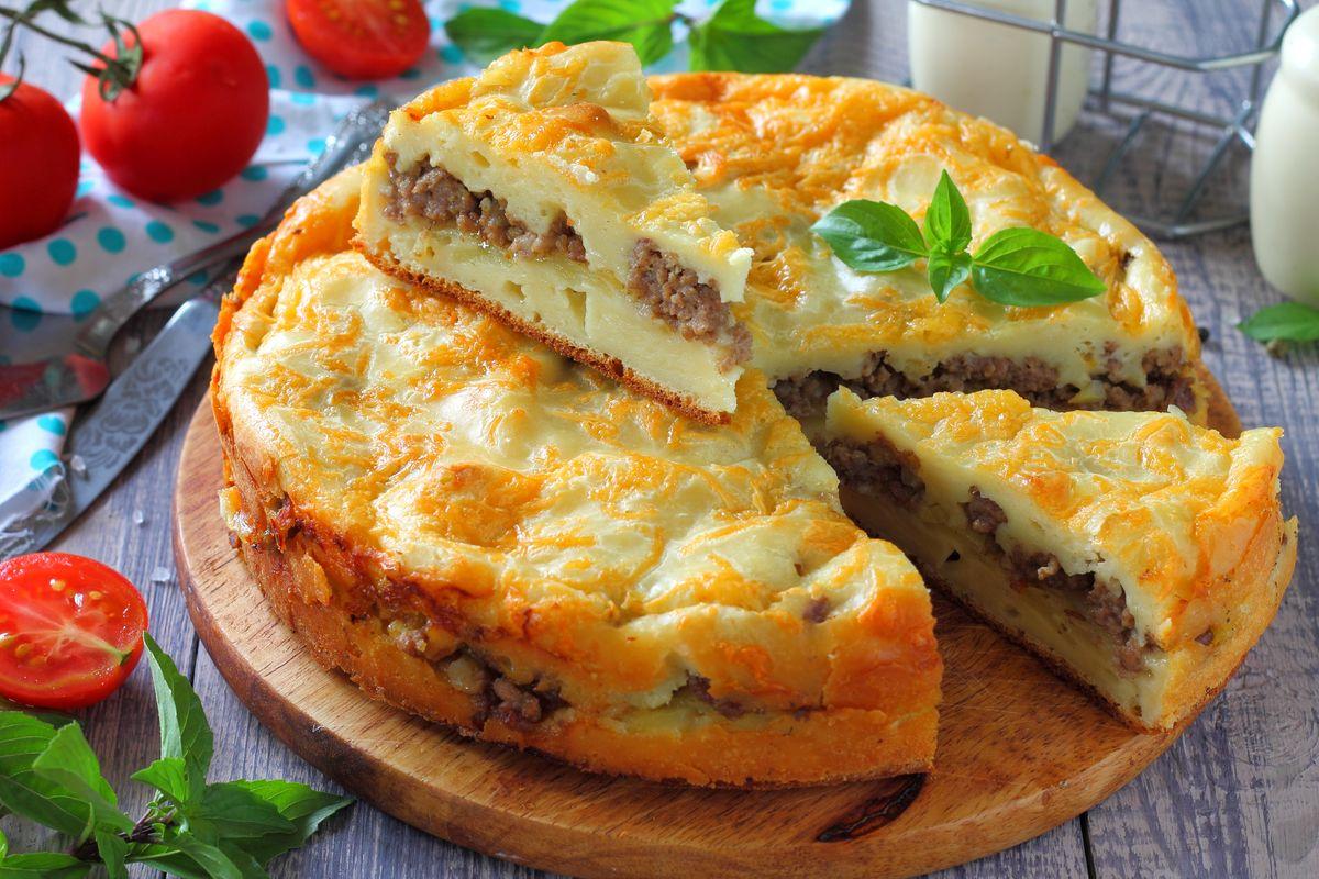 заливной мясной пирог рецепт с фото обшить