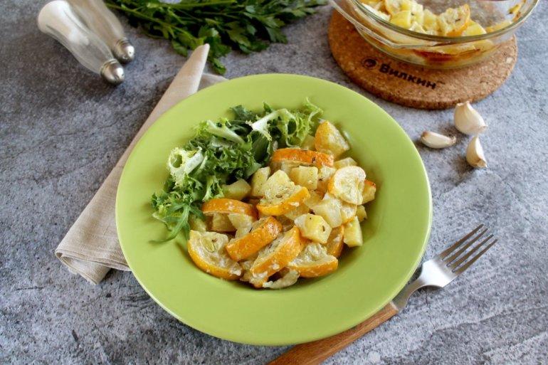 Баклажаны с картошкой в духовке