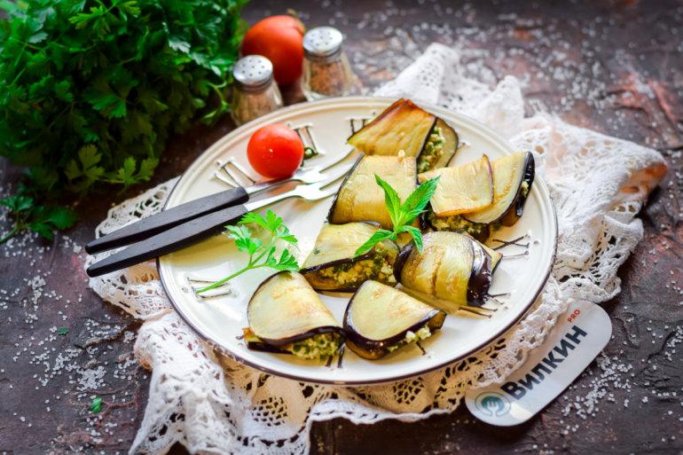 Баклажаны с грецкими орехами и чесноком по-грузински