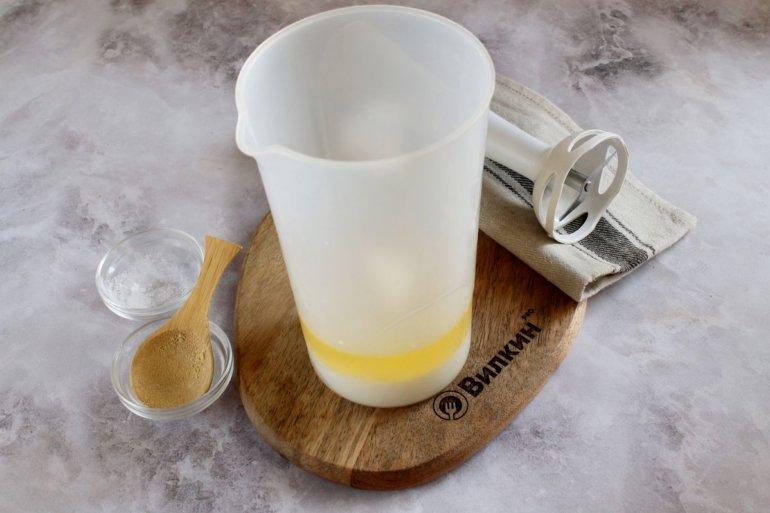 добавление сухих ингредиентов