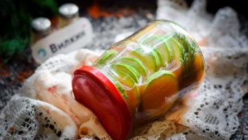 кабачки с кетчупом на зиму