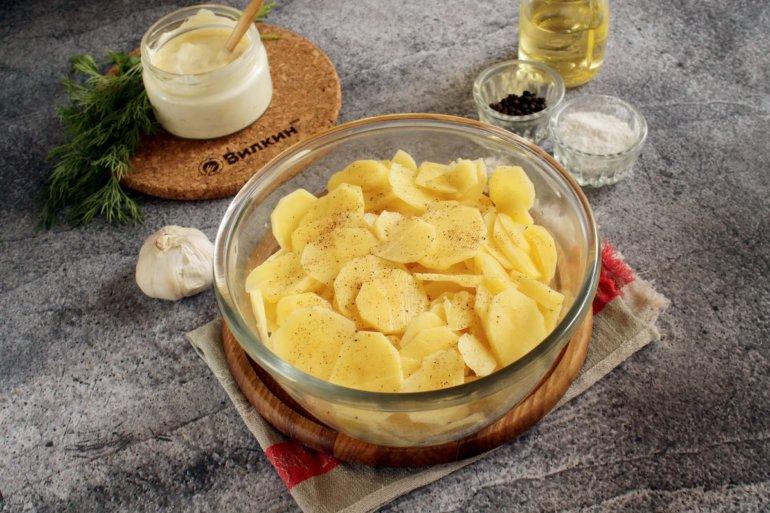 картофельные кружочки