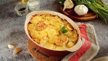 картошка с майонезом и чесноком в духовке