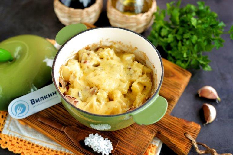 запеченный картофель с шампиньонами