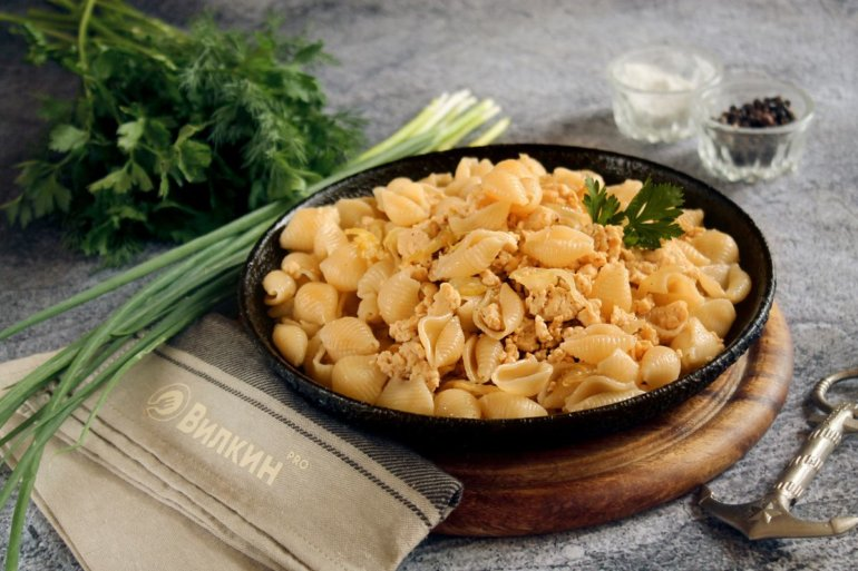 порция макарон по-флотски