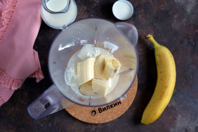 добавление банана