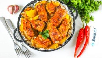 мясо с картошкой в фольге в духовке
