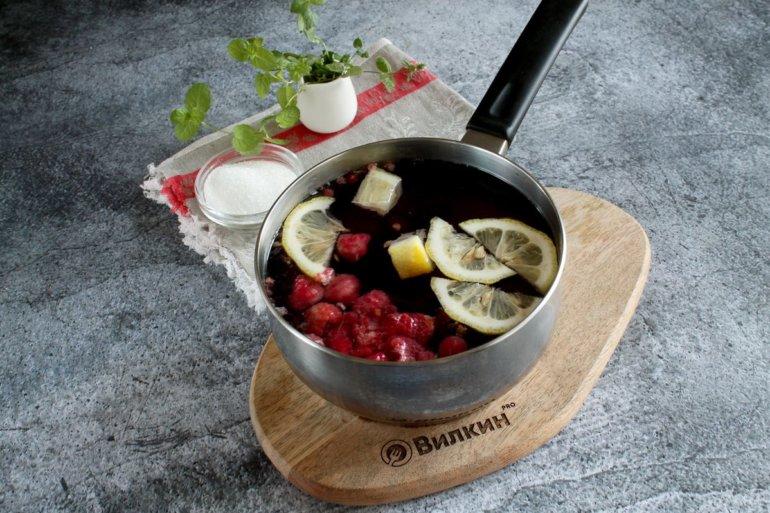 добавление лимонных долек