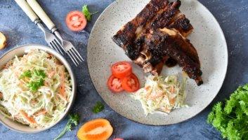 свиные ребра барбекю в ромовом маринаде