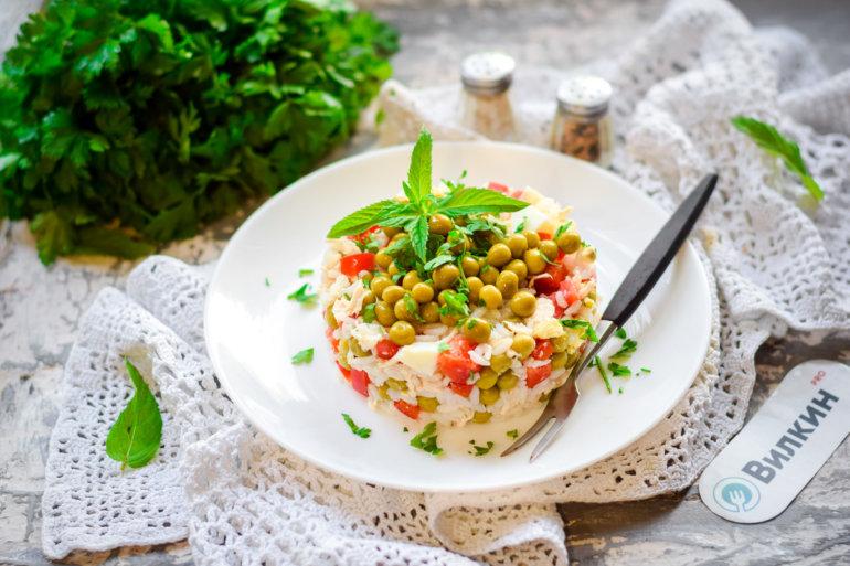 формовка и украшение салата