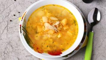суп с булгуром и курицей