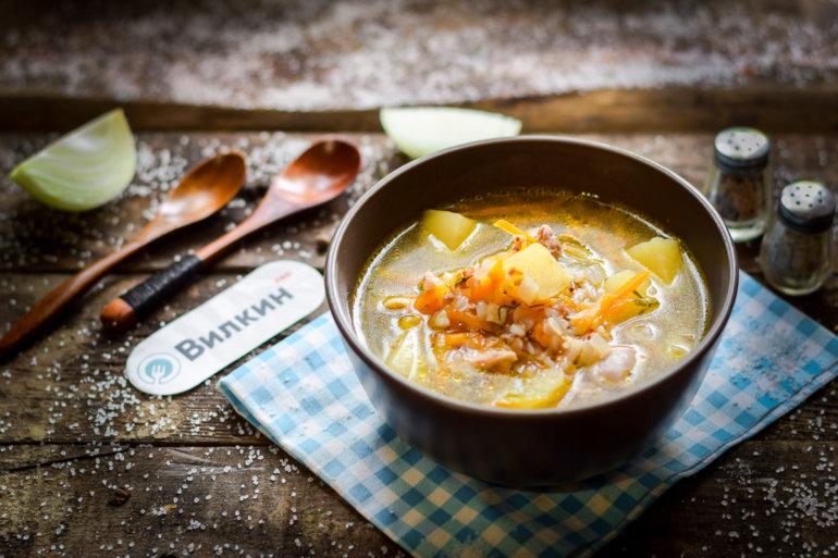 куриный суп с картофелем и гречкой
