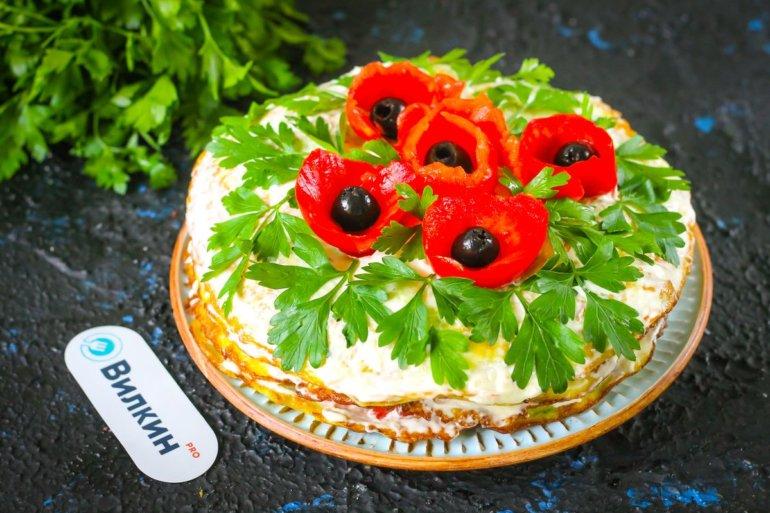 торт из кабачков на праздничный стол