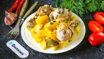 жаркое из курицы с картошкой