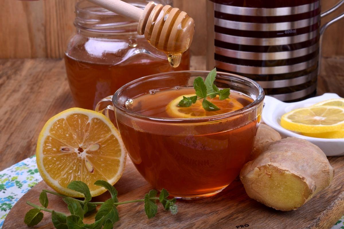Картинка мед с лимоном