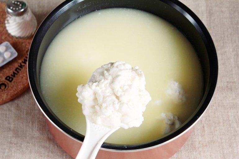 отделенное сырное зерно