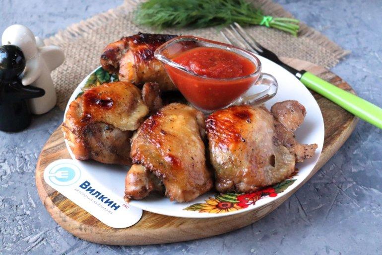 Бедра курицы в духовке