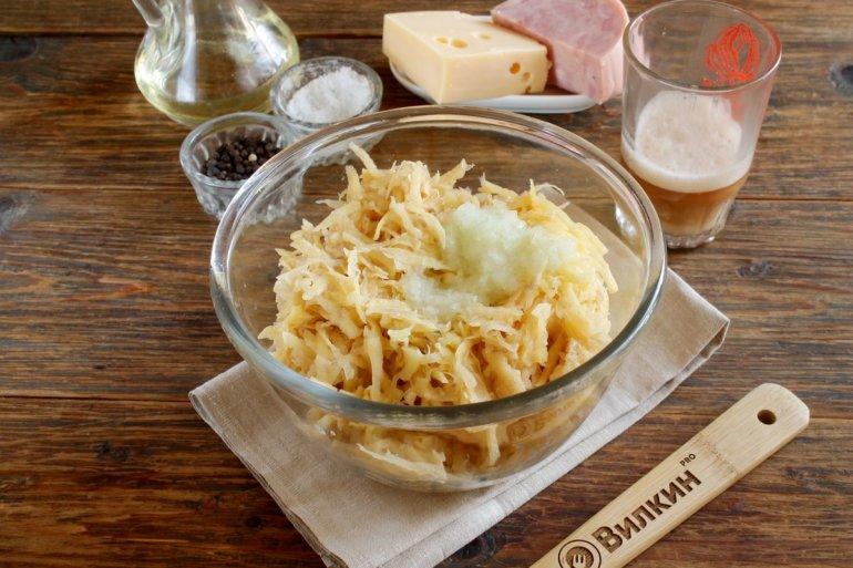 тертый картофель с луком