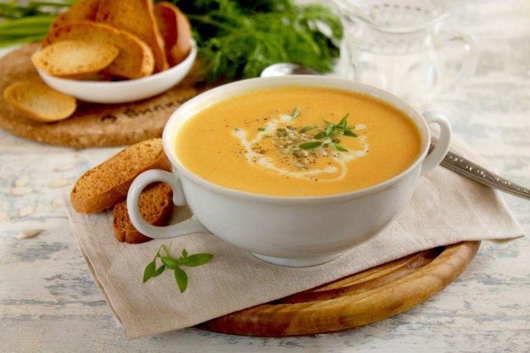 тыквенный крем-суп на основе сливок