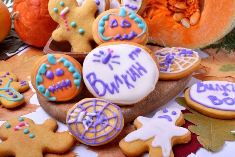 праздничное печенье на Хэллоуин