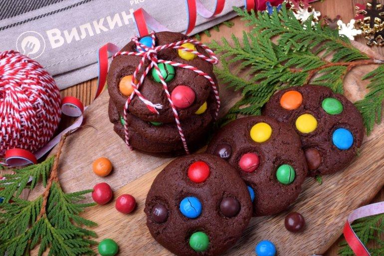 шоколадное печенье с M&M`s