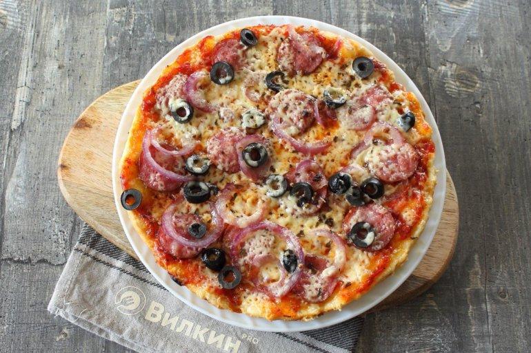быстрая пицца из теста на майонезе
