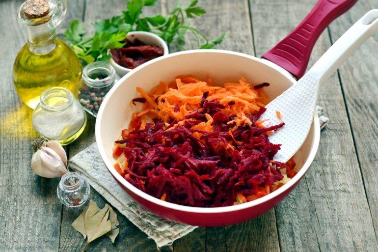 добавление свеклы с морковью