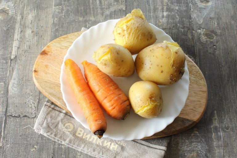 картошка и морковка