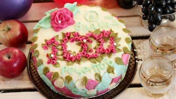 торт в честь 1000 рецептов на сайте