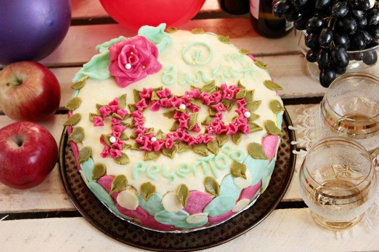 Юбилейный торт в честь первой 1000 рецептов на Вилкин.pro
