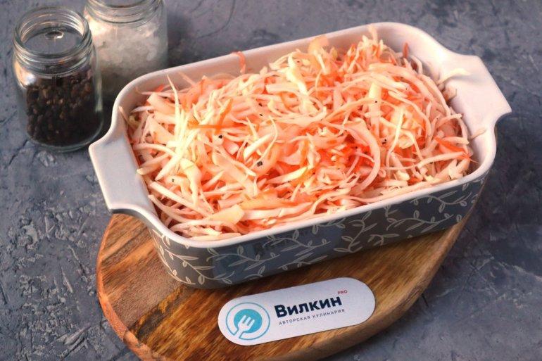 перекладывание овощей в форму