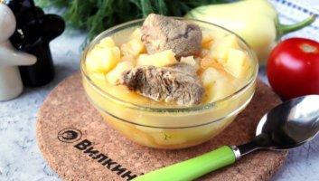 тушеная картошка с мясом говядины