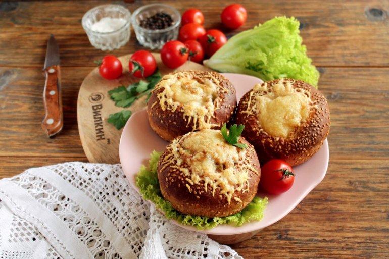 закусочные булочки с грибным жюльеном