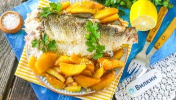 картошка с рыбой в фольге в духовке