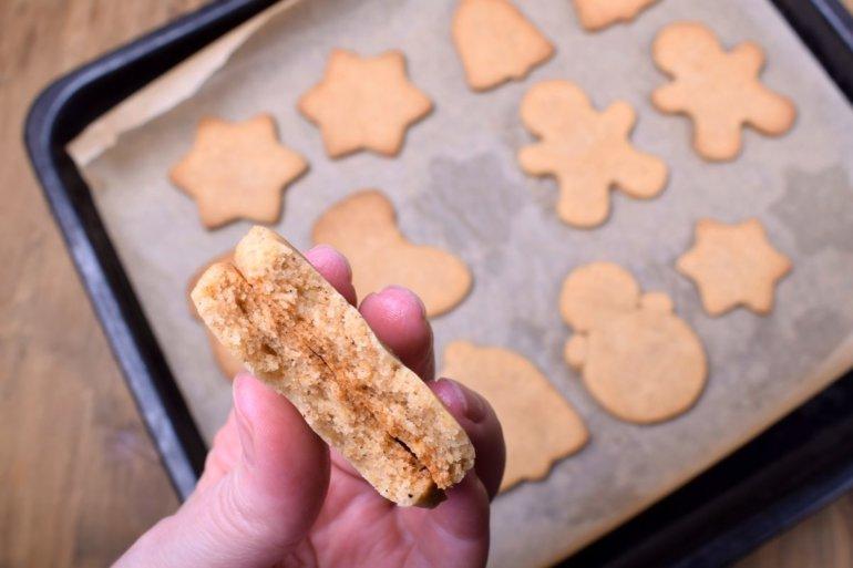 вид готового печенья внутри
