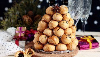 новогодние сырные шарики