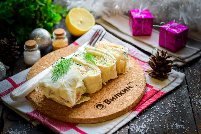 закуска из лаваша с рыбой и сыром
