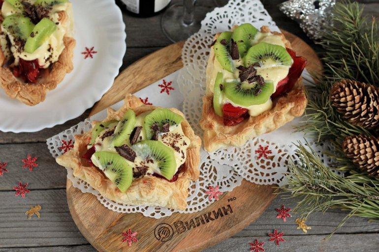 Ягодный десерт на Новый Год