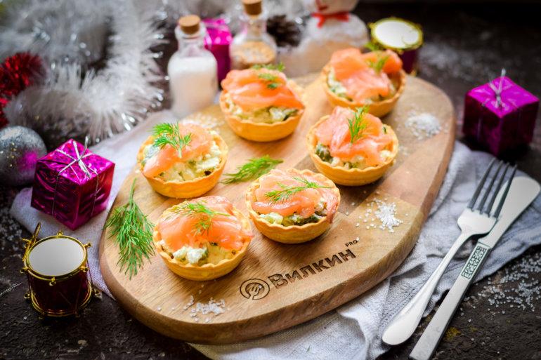 Новогодняя закуска в тарталетках