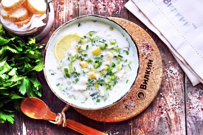 готовый холодный суп