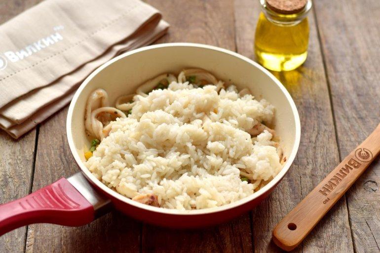 добавление рисовой каши
