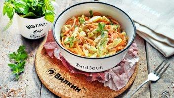 салат из копченой курицы и корейской моркови