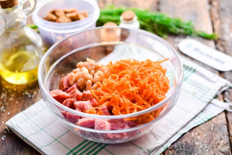 закладка морковки