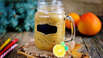 смузи с грейпфрутом, апельсином и киви